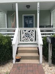 Sea Turtle Gate Panel Modern Front Porches Porch Steps Porch Gate