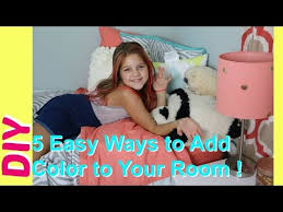 5 Diy Room Decor Easy Ways To Add Color To Girls Bedrooms Decorating Kids Room Best Friends Youtube