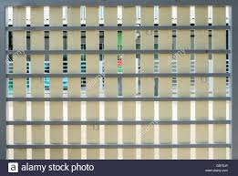 Artificial Wooden Fence On The Metal Frame Of The Modern House In The Stock Photo Alamy