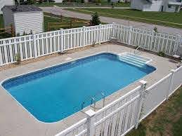Pool Fencings Are Suitable For Personal Privacy And Defense Yet You Can Still Have Fu Rectangle Swimming Pools Swimming Pool Kits Swimming Pools Inground