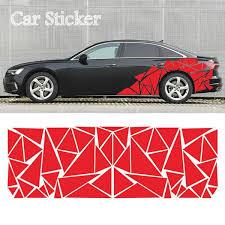 200x60cm Glossy Geometric Triangle Graphic Decal Car Sticker Wish