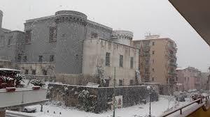 Castello di Caivano innevato - Il Giornale di Caivano