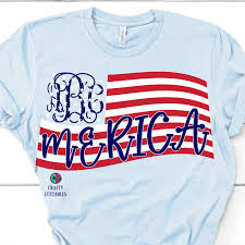 Merica Flag Monogram American Flag Svg Usa Flag Svg Flag Monogram American Flag Decal Svg For Cricut American Flag Merica Svg Monogram Svg Svg For Cricut
