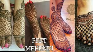 mehndi design for legs bridal