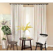 Light Colored Long Pinch Pleated Energy Saving Elegant Dining Room Curtains