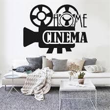 Home Cinema Wall Decals Home Decor Living Room Bedroom Creative Film Theatre Vinyl Waterproof Window Stickers Decoration Z787 Wall Stickers Aliexpress