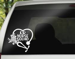 Er Nurse Squad Decal Etsy Nurse Decals Nurse Car Decal Car Decals Vinyl