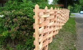 Timberweave Woven Timber Fencing Design Mick Burns Uk