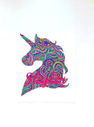 Unicorn Decal Unicorn Sticker Unicorn Name Vinyl Decal Custom Laptop Decal Water Bottle Decal Tumbler You Choose Size And Color Unicorn Stickers Unicorn Names Vinyl Decals