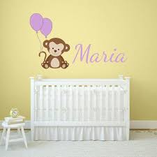 Personalized Printed Monkey Wall Decal Wall Decal World