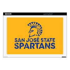 San Jose State Spartans Logo Wordmark Distressed 17 Laptop Decal Zazzle Com