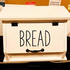 Decal Only Bread Vinyl Decal Farmhouse Decal Rustic Bread Box Decal Farmhouse Style Kitchen Decal For Bread Box