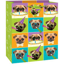 pug dog party gift bag walmart
