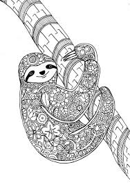 Flower Sloth A Page From My New Art Therapy Coloring Book Animal