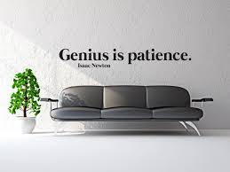 Genius Is Patience Wall Decal Canvas Art Rocks