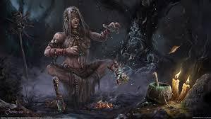 hd wallpaper female shaman digital