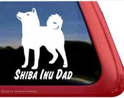Shiba Inu Car Decal Etsy