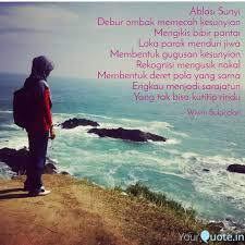ablasi sunyi debur ombak quotes writings by wiwin