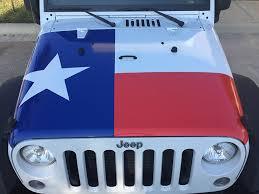 Texas Flag Jeep Custom Wrap 1