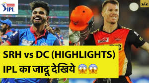 SRH vs DC 2020 Highlights