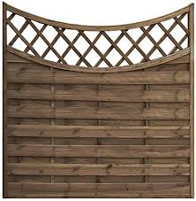 Garden Fencing 6ft X 6ft Concave Privacy Trellis Lattice Fence Panels Treated Na Ribe Dk