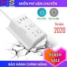 Shop bán Ổ Cắm Điện Đa Năng có cổng USB chống giật, đi du lịch tích hợp 3  cổng USB sạc nhanh 4 cổng ổ cắm điện dân dụng phù hợp phích