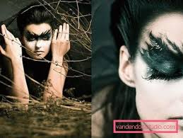 gothic makeup hairstyle