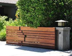 20 Modern Low Fence Design Ideas From Woods Garden Gate Design House Fence Design Wooden Gate Designs