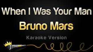 Bruno Mars - When I Was Your Man (Karaoke Version) - YouTube