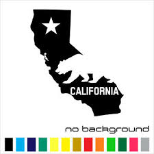 California State Sticker Vinyl Decal Map Ca Republic Flag La Wall Car Window Ebay