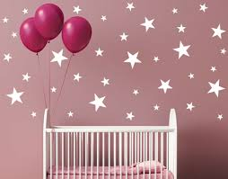 102 Mixed Size Black Stars Shapes Wall Stickers Decals Confetti Nursery Window For Sale Online Ebay
