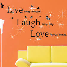 Walplus Classic Live Laugh Love And Swarovski Wall Decal Reviews Wayfair