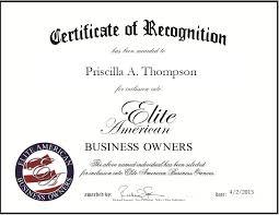 Priscilla Thompson | Elite American Business Owners