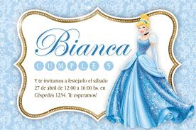Invitation Cinderella Invitacion Cenicienta Www Decoratucumple