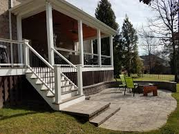 open porch with trex decking and paver