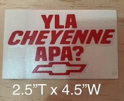 Y La Cheyenne A Pa Vinyl Decal Sticker Ebay