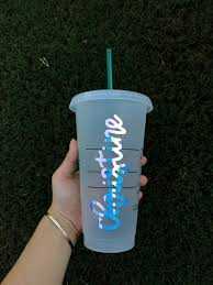 Custom Name Decals Hand Lettered Vinyl Decal For Cups And Etsy