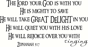 Amazon Com Zephaniah 3 17 Cv Option 3 Wall Art The Lord Your God Is With You He Is Mighty To Save He Will Take Great Delight In You He Will Quiet You