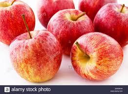Seven apples on white background Stock Photo - Alamy