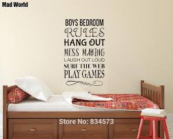 Mad World Boys Bedroom Rules Games Mess Laugh Wall Art Stickers Wall Decals Home Diy Decoration Removable Decor Wall Stickers Wall Sticker Decorative Wall Stickerswall Art Stickers Aliexpress