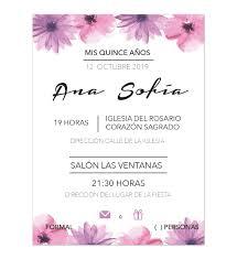 Invitacion Xv Anos Rose Rose Invitaciones Digital E Impresas
