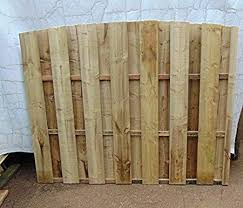 Smileswoodcraft Wooden Garden Hit And Miss Wind Proof Fencing Arch Top Fence Panel 182cm 6ft H X 152cm 5ft W Amazon Co Uk Garden Outdoors