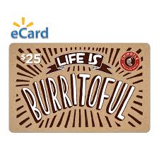 chipotle 25 gift card email delivery