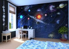 Solar System Wall Mural Wallpaper Photowall Home Decor Fototapet Valokuvatapetit Space Themed Bedroom Outer Space Bedroom Decor Outer Space Bedroom