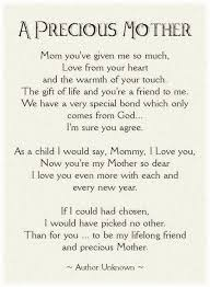 mother s day poem thanks mom miss you xoxo courtesy of heather