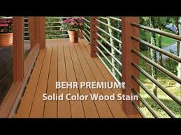 Behr Premium Solid Color Weatherproofing All In One Wood Stain Sealer Youtube