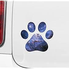Amazon Com Yadda Yadda Design Co Cosmic Dog Pawprint Galaxy Star Paw Print Vinyl Car Decal 3 X 3 Cosmic Automotive