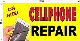 Amazon Com Cellphone Cell Phone Repair You Choose Size Perforated Window Vinyl Decal 2 X 4 Office Products