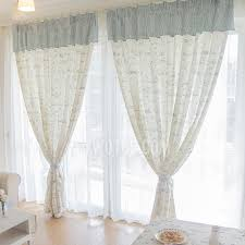 Simple White Cute Patterns Printed Window Curtains For Kids Room
