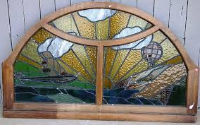 custom made leaded glass window featuring
